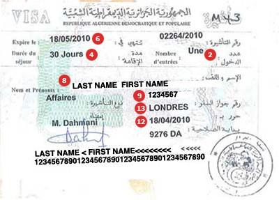Visum Algerien
